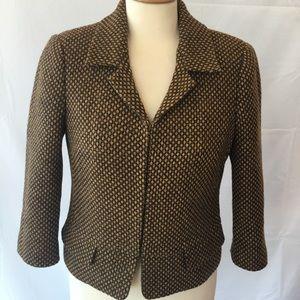 Jackets & Blazers - Club Monaco Brown Wool Blend Blazer Jacket